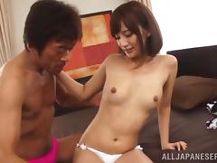 Rino Yoshihara is fucked by this guy after giving him head