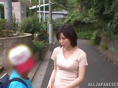 Nanako Mori is fucked in a public restroom by a guy