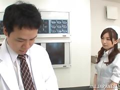 Japanese nurse Saya Niiyama enjoys dirty banging with a doctor