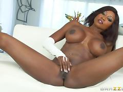 Hot interracial sex scene featuring Diamond Jackson and Manuel Ferrara