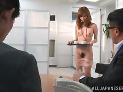 An amazing threesome for the slutty Miyuki Yokoyam