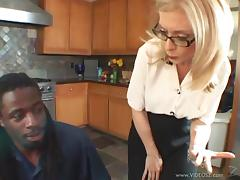 Sexy, Blonde Pornstar With Big Tits Sucking A Massive Black Cock