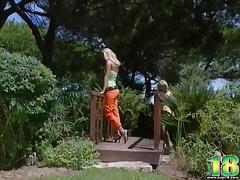 Two Blonde Babes Have an Outdoor Lesbian Hookup