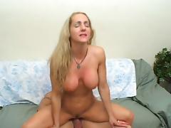 big tit blonde milf facial