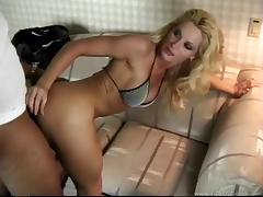 Busty blonde MILF Mikki Taylor gets analyzed by BBC