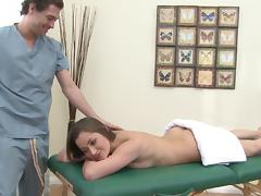 Bootyful goddess Dani Daniels gets massaged and punished
