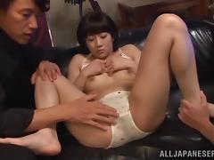Gorgeous Yuri Shinomiya Gets Masturbated By Several Horny Men