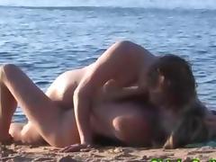 Beach Sex, Amateur, Babe, Beach, Kissing, Lesbian