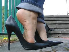 Leather, Amateur, Boots, Heels, Leather, Shoes