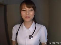 Asian Amateur Nurse Gives The Sexiest Titjob And Blowjob