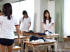 Japanese Teen Wears The Sexiest Shorts While She Gives Head