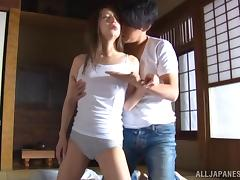 Palatable Asian chick Marie Shiraish sucks cock and gets punished
