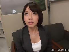 Amateur Asian Beauty Gets Gangbanged In The Office