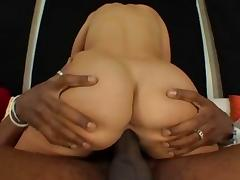 Desperate babe finds an awesome cock to ride