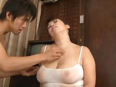 Mom and Boy, Asian, Babe, BBW, Big Cock, Big Tits