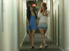 Brunette Babe Licks Pussy And Makes Her Redhead Friend Cum Fast