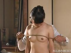 Kinky Asian Slave Girl in Rope Bondage