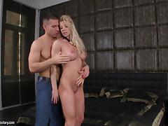 Lara De Santis sucks on a big cock before being fucked