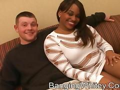 Paris Devil gets her black coochie licked and drilled hard in MMF clip