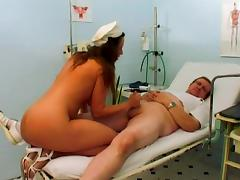 Two lewd nurses fuck a guy in a hospital in hardcore reality scene