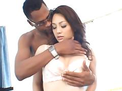 Black cock tears gorgeous Saeko Kimishima tight pussy apart