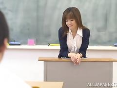 After class with kinky Asian professor Arisa Misato