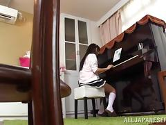 Asian Teen Couple Fucking On The Piano Table