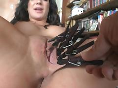 Maiden Gets Tortured By Having Her Pussy Pegged In A BDSM Porn
