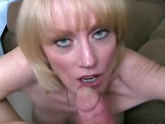 Mom and Boy, Big Tits, Blonde, Blowjob, Boobs, Mature