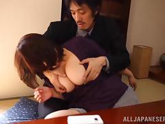 Asian Wife With Perfect Natural Tits Gives This Guy The Hottest Titjob