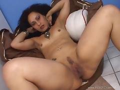 Hypnotized Brunette With Small Tits Being Pounded Missionary