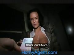 HornyAgent Short Girl gets fucked by fake ticket inspector