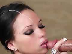 All, Blowjob, Brunette, Couple, Facial, Penis