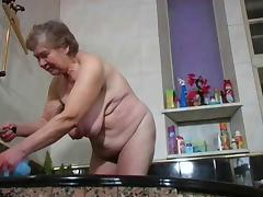 Grandma, Bath, Bathing, Bathroom, Granny, Mature