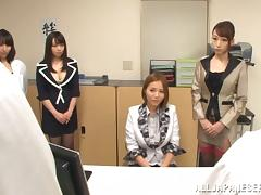Naughty Japanese Teachers Enjoy Hardcore Group Sex In The Office