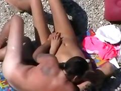 Spy Beach Movie Of Spouse Touching Wifes Cum-Hole