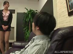 Japanese Maiden In Miniskirt Gets Screwed Hardcore In The Office