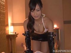Pretty Doll With Long Hair Swallows Cum In A POV Shoot