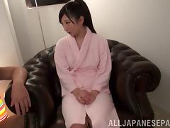 Busty Japanese Babe Gets Hard Rod In All Her Holes In Reality