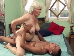 Hairy Granny, Blowjob, Couple, Facial, Granny, Hairy