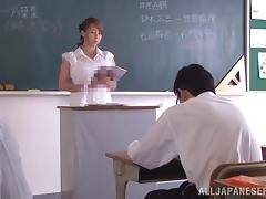 Horny Japanese Teacher Inserts Sex Toy Hardcore