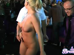 Good Looking Blonde Masturbating Passionately At The Public Place