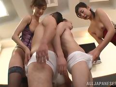 Hot And Nasty Japanese Femdom Fun In A Hardcore Asian Group Sex