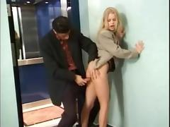 German secretary fucked outside lift part 1