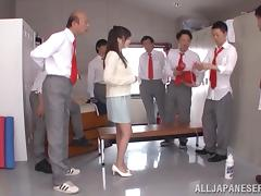 Arisa Misato gets her mouth and pussy fucked at the same time