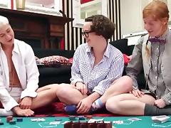 Nerdy lesbians from strip poker to lesbian sex
