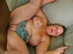 Black & White BBW Blonde threesome