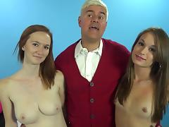 Dee Dee Lynn and Kacey Lane are good blowjob students