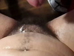 Hairy Beautiful Princess Being Filled & Emptied On..