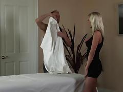 Lovely porn beauty BiBi Jones in a hot and hardcore fuck massage